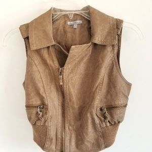 Charlotte Russe Faux Leather Vest s XS